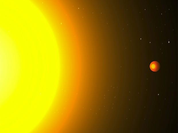 Concepção artística mostra exoplaneta Kepler 78b próximo à estrela (Foto: Divulgação/Cristina Sanchis Ojeda/MIT)