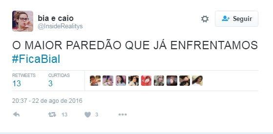 Fãs fazem campanha para Pedro Bial permanecer no BBB (Foto: Reprodução / Twitter)
