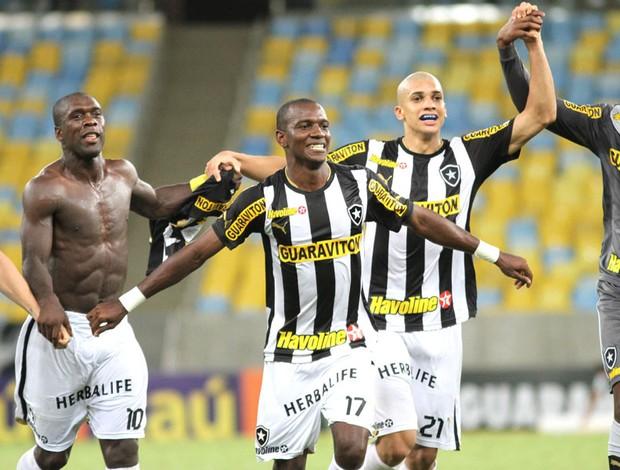 Hyuri comemoração Botafogo contra o Corinthians (Foto: Satiro Sodré / SSPress)