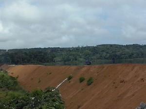 Local do alagamento na Hidrelétrica de Santo Antônio (Foto: Francisco Pilha/Arquivo Pessoal)