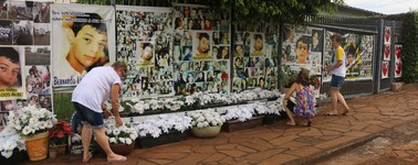 Morte de Bernardo une corrente em busca de justiça (Rafaella Fraga/G1)