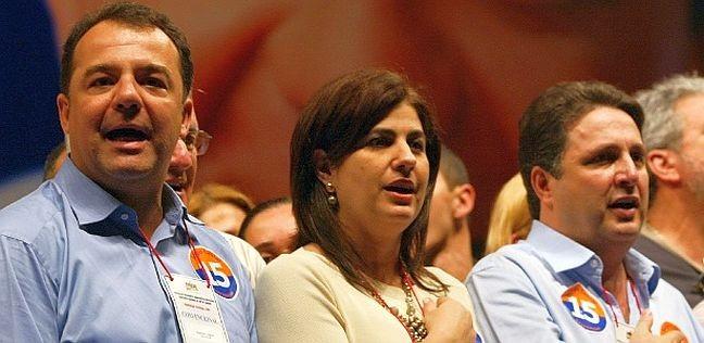 Sérgio Cabral, Rosinha e Anthony Garotinho (Foto: Michel Filho / Agência O Globo)