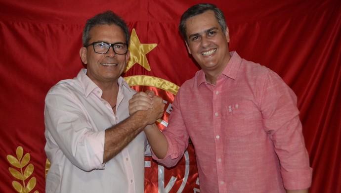 Hermano Morais e Beto Santos AMérica-RN (Foto: Jocaff Souza/GloboEsporte.com)