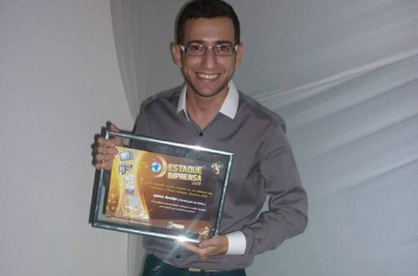 James Araújo foi eleito Revalção na Rádio.  (Foto: Arquivo pessoal)
