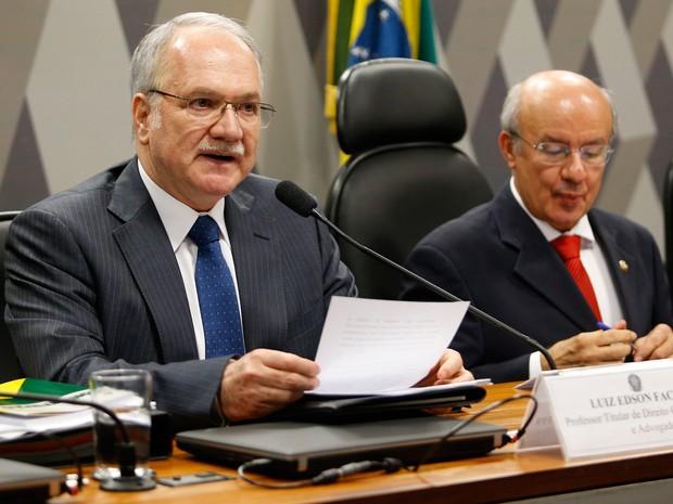 Luiz Fachin, indicado por Dilma para vaga no STF, participa de sabatina no Senado (Foto: Dida Sampaio/Estadão Conteúdo)