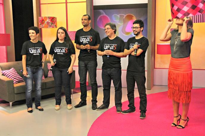 Mistura com Rodaika Grupo Vocal5 Quadro A Cappella Domingão do Faustão (Foto: Maicon Hinrichsen/RBS TV)