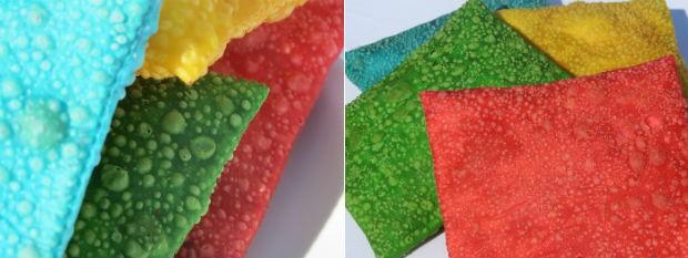 Para ficarem colorido, chefe de cozinha usa corante natural e comestível (Foto: Rubiane Mello/Arquivo Pessoal)