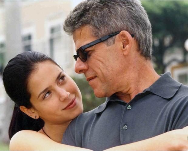 Cíntia (Mel Lisboa) e Nando (José Mayer) em Presença de Anita (Foto: CEDOC / TV Globo)