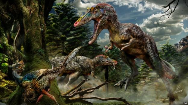 Ilustração de Chuang Zhao mostra como seria o 'Pinóquio rex' (Foto: PA/BBC)