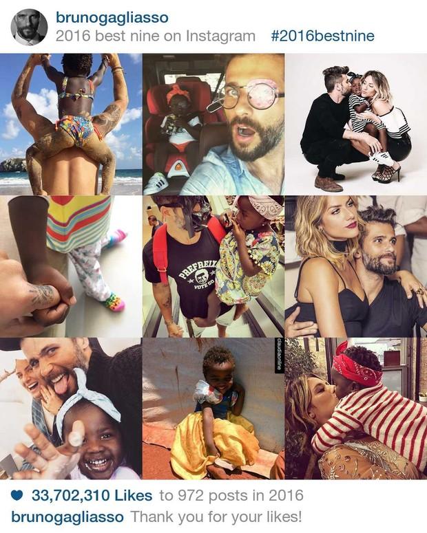 As fotos mais curtidas dos famosos no Instagram em 2016 (Foto: Reprodução / 2016bestnine)