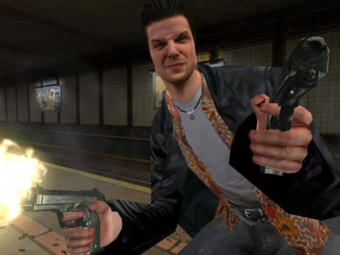 Max Payne de cara feia e em ação (Foto: Divulgação/Take Two)