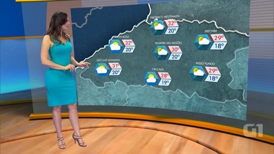 Clima no RS deve ser de calor com pancadas de chuva no Norte e Leste