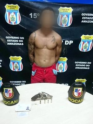 Suspeito foi preso na segunda-feira (15), no bairro Terra Nova 2 (Foto: Divulgação/Polícia Militar)