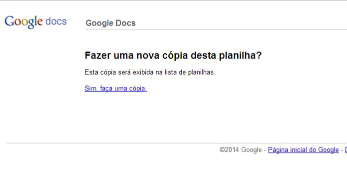 Google Drive questionará se usuário deseja copiar tabela com script para salvar e-mails (Foto: Reprodução/Elson de Souza)