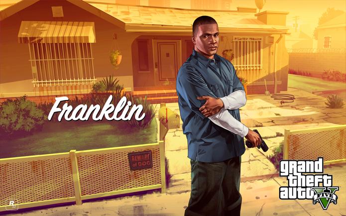 Franklin Clinton de GTA 5 (Foto: Divulgação/Rockstar)