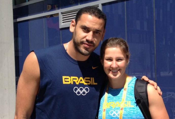 Mauricio Borges, da seleção de vôlei, foi outro tietado na Vila dos Atletas no Pan (Foto: Arquivo Pessoal)