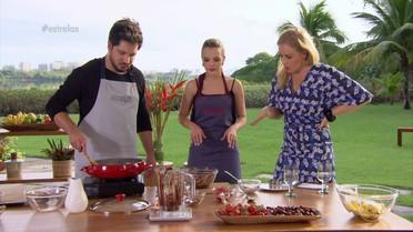 Thaeme e Thiago cozinham no 'Estrelas'