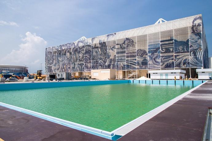Estádio Aquático do Parque Olímpico Rio 2016 - natação (Foto: Gabriel Heusi/Brasil2016.gov.br)