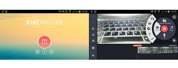 Kinemaster tem interface completa de edição com linha do tempo (Foto: Reprodução/Barbara Mannara)