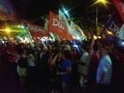 Reeleição é celebrada por eleitores em SC (Leandro Carbone/RBS TV)