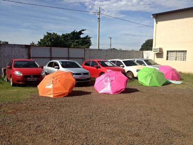 Grupo comprou cinco carros novos além de três casas com dinheiro do furto, diz polícia (Foto: Maressa Mendonça/ G1 MS)