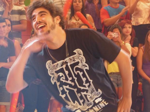 Caio Castro dança funk no palco do Esquenta! (Foto: Esquenta/TV Globo)