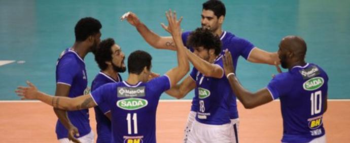 Sem dificuldades, Cruzeiro vence o Sesi-SP no Ginásio do Riacho (Foto: Reprodução / Cruzeiro)