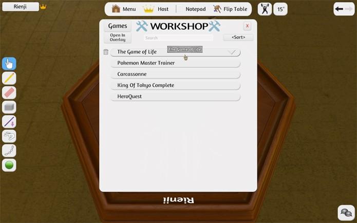 Selecione o jogo baixado para começar a sessão (Foto: Reprodução/Felipe Vinha)