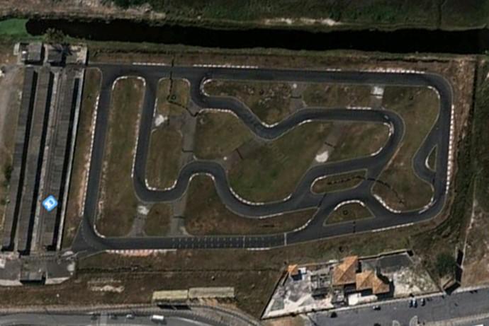 Reprodução da imagem aérea do antigo kartódromo (Foto: Reprodução)