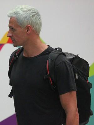 Desembarque Ryan Lochte (Foto: Fabrício Marques)