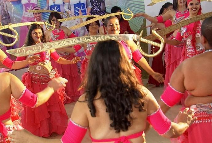 Dança do ventre (Foto: Reprodução/TV TEM)