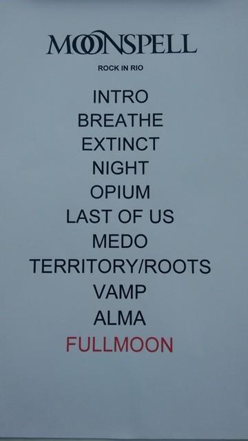 Setlist: Moonspell (Foto: Divulgao)