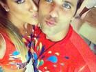 Fazendo biquinho, Giovanna Ewbank e Bruno Gagliasso curtem carnaval