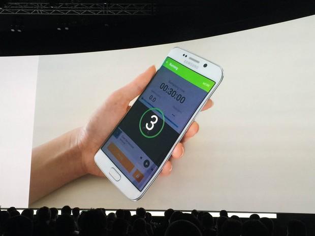 Samsung lança smartphones Galaxy S6 e S6 Edge, em Barcelona  (Foto: (Foto: Helton Gomes/G1))