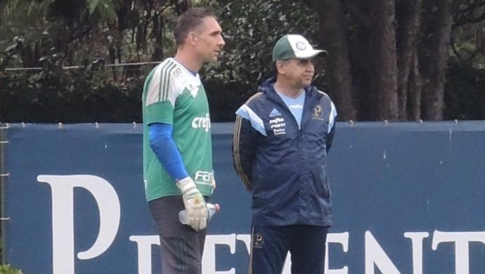 Fernando Prass Marcelo Oliveira Palmeiras (Foto: Felipe Zito)