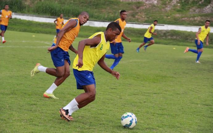 Nacional-AM treino (Foto: Marcos Dantas)