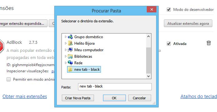 Instalando extensão baixada por fora da Chrome Web Store (Foto: Reprodução/Helito Bijora)