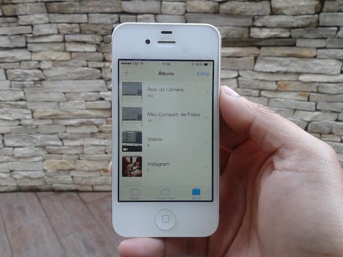 Descubra como criar e editar álbuns de fotos no iPhone (Foto: Marvin Costa/TechTudo)