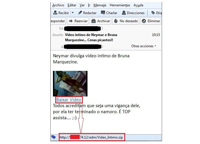 Video de Neymar é utilizado para instalar vírus Torjan (Foto: Reprodução/ESET)