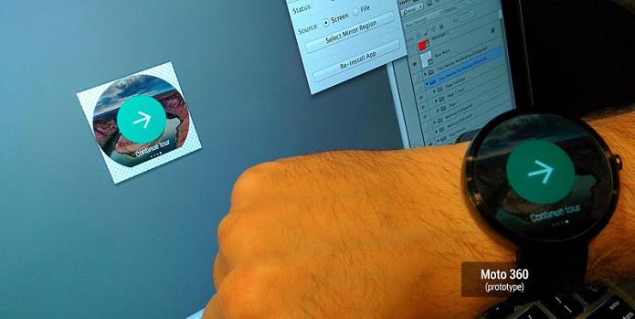 Moto 360 tem visual arredondado (Foto: Divulgação/Android Developers)