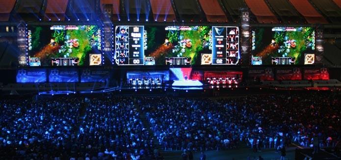 Final Mundial de League of Legends reuniu mais de 40 mil pessoas na Coreia do Sul (Foto: Felipe Vinha)