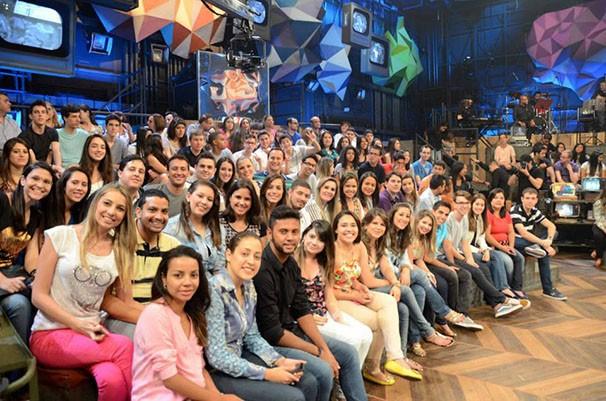 Estudantes de Presidente Prudente na plateia do Altas Horas (Foto: Priscila Guidini)