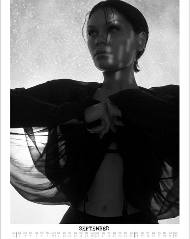 Jessie J em imagem do mês de setembro (Foto: Reprodução/Instagram)