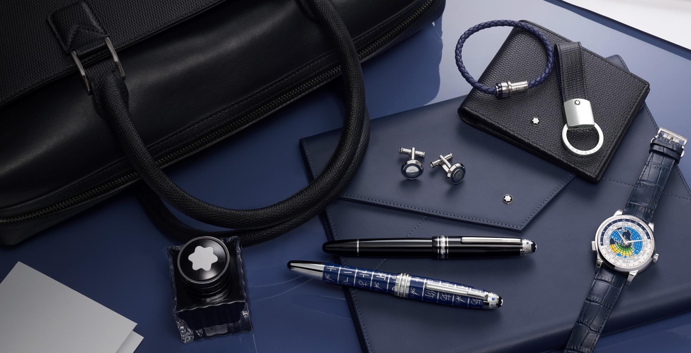 Alguns produtos da nova coleção lançada pela Montblanc em parceria com a Unicef (Foto: Divulgação)