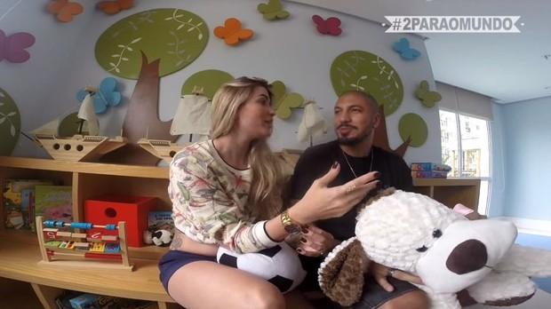 Aline Gotschalg e Fernando Medeiros (Foto: Youtube / Reprodução)