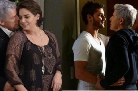 José Mayer, Suzy Rêgo e Klebber Toledo: triângulo amoroso em 'Império' (Foto: TV Globo)