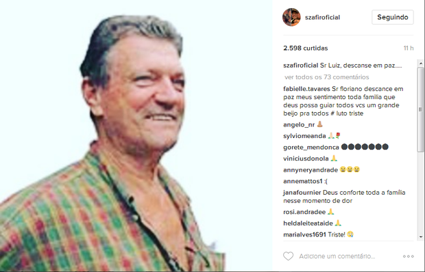 Homenagem de Luciano Szafir (Foto: Reprodução/Instagram)