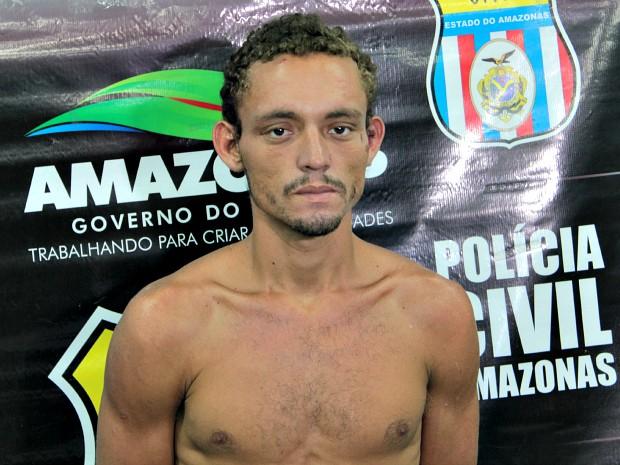 Joziel do Amaral confessou ter matado um feirante, de 55 anos, nesta manhã em Manaus (Foto: Tiago Melo/G1 AM)