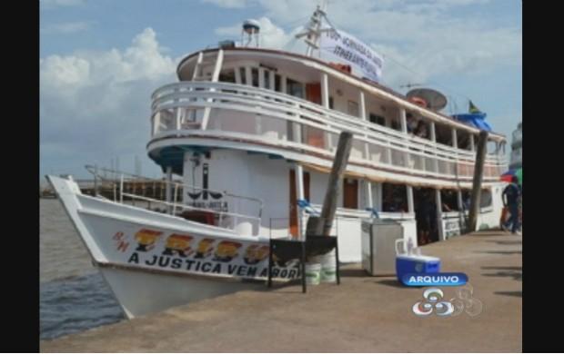 Embarcação foi doada para a Universidade Estadual do Amapá. (Foto: Reprodução/TV Amapá)