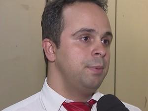 Diego Lopes, delegado em Itaúna (Foto: TV Integração/Reprodução)